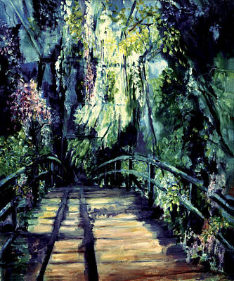 Self Discovery Painting - The Bridge by Shari Silvey