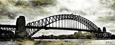 The Bridge Spattled Print by Helge