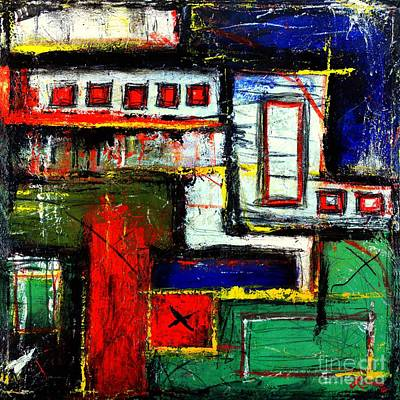 Abstracto Mixed Media - The Bridges Vii -the Series- Los Puentes - Art By Laura Gomez by Laura  Gomez