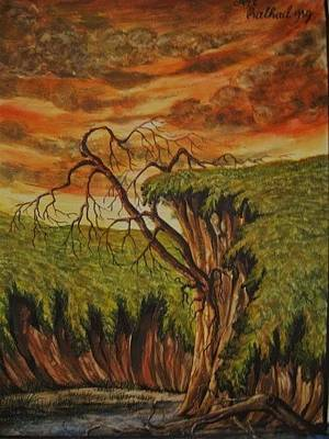 Painting - The Broken Nature  by Pralhad Gurung