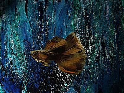 Underwater Digital Art - The Brown Fish Art  by Mario Perez