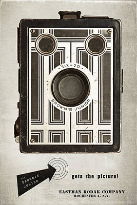 Kodak Photograph - The Brownie Junior Six-20 Camera by Tom Mc Nemar