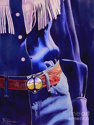 Cowgirl Painting - The Buckle by Robert Hooper