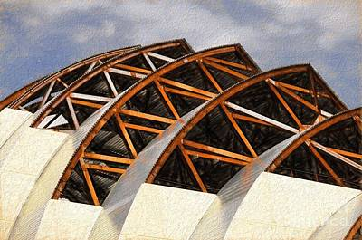 Photograph - The Building Of Kauffman  by Liane Wright