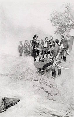 Redcoat Photograph - The Burial Of Braddock, Illustration From Colonel Washington By Woodrow Wilson, Pub. In Harpers by Howard Pyle