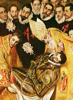 Master Painting - The Burial Of Count Orgaz by El Greco Domenico Theotocopuli