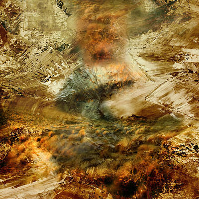 Burning Mixed Media - The Burning Bush - Abstract Realism by Georgiana Romanovna