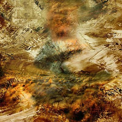 Burning Bush Painting - The Burning Bush - Abstract Realism by Georgiana Romanovna