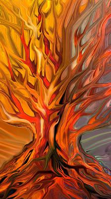 Burning Bush Digital Art - The Burning Bush by Ron Cantrell