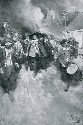 The Burning Of Jamestown, 1676, Illustration From Colonies And Nation By Woodrow Wilson, Pub Print by Howard Pyle