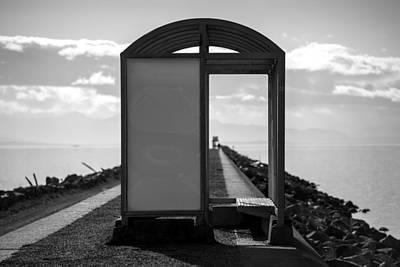 Doppelganger Photograph - The Bus Stop by Alex Land