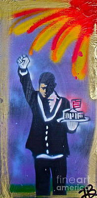 Liberal Painting - The Butler 1 by Tony B Conscious