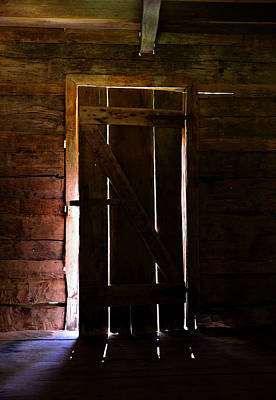 Log Cabin Photograph - The Cabin Door by David Lee Thompson