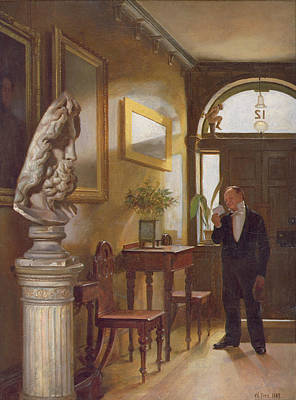Fitz Painting - The Calling Card, 1889 by William Fitz