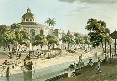 The Calvinistic Church In Batavia Print by William Alexander