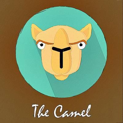 Camel Digital Art - The Camel Cute Portrait by Florian Rodarte