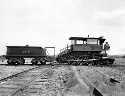 Maryland Photograph - The Camelback Locomotive by Underwood Archives