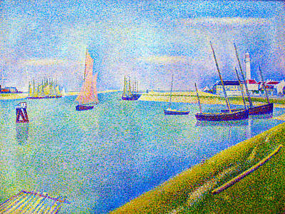 The Canal At  Gravelines Print by Georges Seurat