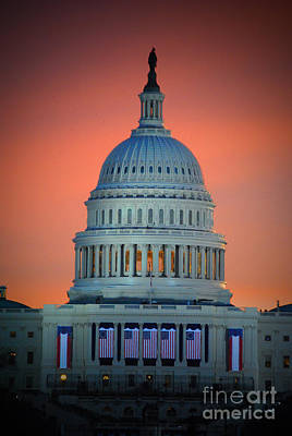 Vice President Biden Photograph - The Capitol Dome Rise by Jost Houk