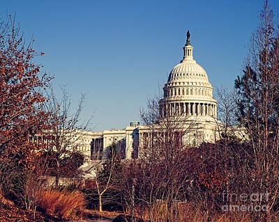 Us Capital Photograph - The Capitol In Winter by Emily Kay