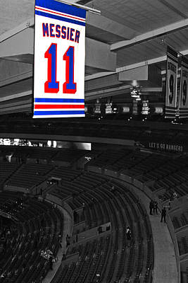 Madison Square Garden Photograph - The Captain Looks Over by Karol Livote