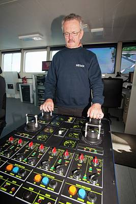 Electronics Photograph - The Captain Of The Jack Up Barge by Ashley Cooper