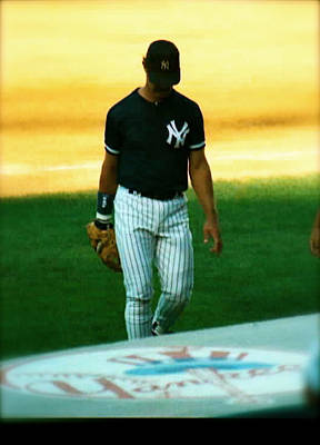 Don Mattingly Photograph - The Captains Farewell  Don Mattingly by Iconic Images Art Gallery David Pucciarelli