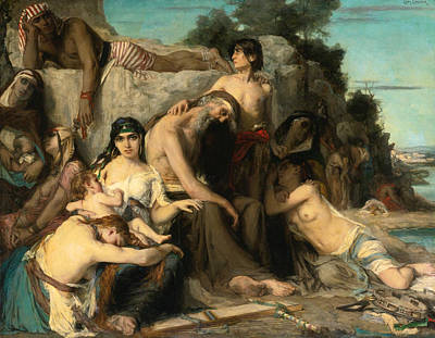 The Captivity Of The Jews In Babylon Print by Leon Francois Comerre