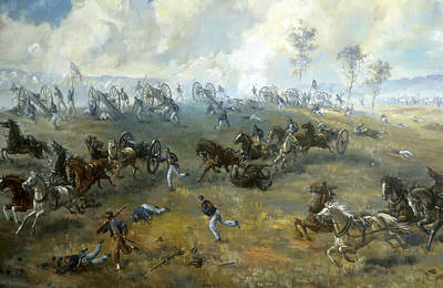 Yankees Painting - The Capture Of Ricketts' Battery At Bull Run by Mountain Dreams