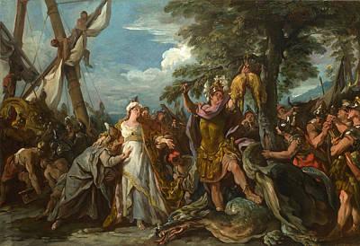 De Troy Painting - The Capture Of The Golden Fleece by Jean-Francois Detroy