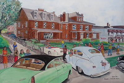 The Car Movers Of Phi Sigma Kappa Osu 43 E. 15th Ave Print by Frank Hunter