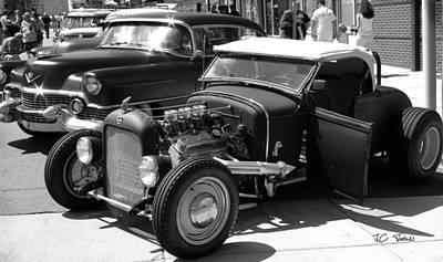 Black_white Photograph - The Car Show by James C Thomas