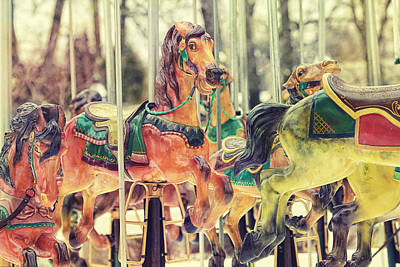 Carousel Horse Photograph - The Carousel by Carrie Ann Grippo-Pike