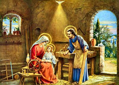 Holy Family Photograph - The Carpenter by Munir Alawi