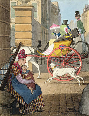 Street Drawing - The Carriage Entrance, From Twenty-four by John James Chalon