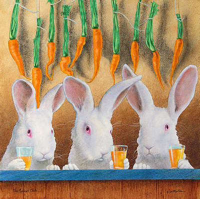 Carrot Painting - The Carrot Club... by Will Bullas