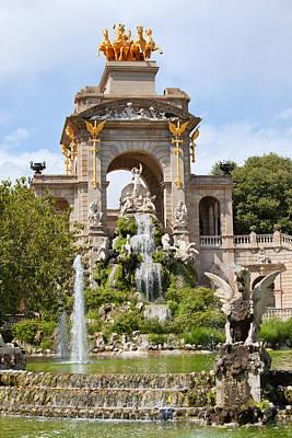 The Cascada In Parc De La Ciutadella In Barcelona Print by Artur Bogacki