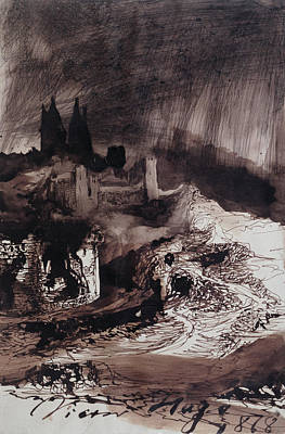 Mystery Drawing - The Castle by Victor Hugo