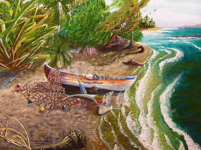 An Island Painting - The Catch Is In by Barbara Ebeling