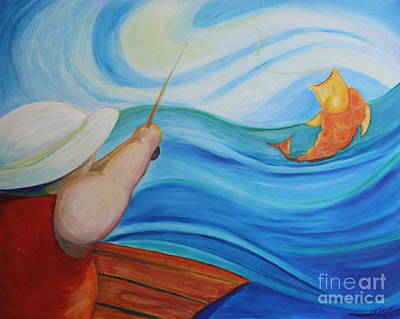 Painting - The Catch by Teresa Hutto