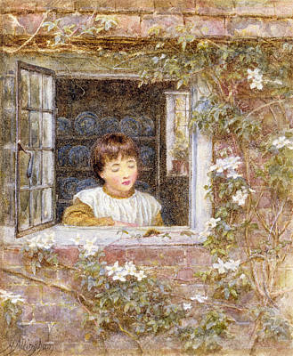 The Caterpillar Wc On Paper Print by Helen Allingham