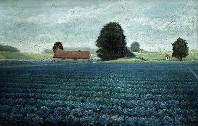 Cauliflower Painting - The Cauliflower Field by Paul Gosselin