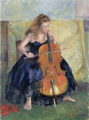 The Cello Player, 1995 Print by Karen Armitage