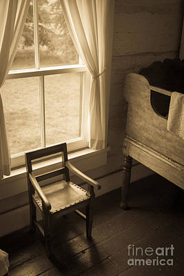 The Chair By The Window Print by Edward Fielding