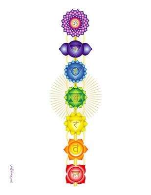 The Chakras Print by Marcy Gold