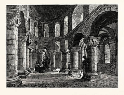 Tower Of London Drawing - The Chapel In The White Tower Tower Of London by English School