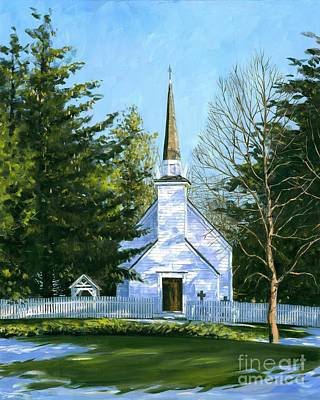 The Chapel Of The Mohawks Print by Michael Swanson