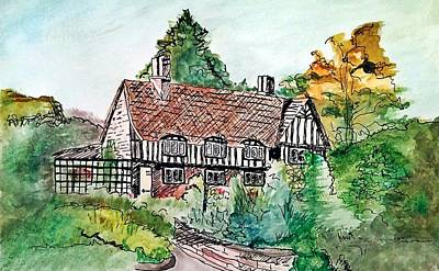 The Charmed Cottage Print by Terry Ganey