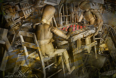 Board Game Photograph - The Checker Game by Randall Nyhof