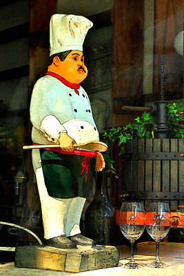 Napa Valley Digital Art - The Chef In The Window by James Eddy